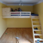 Kinder-Hochbett aus massiver Fichte