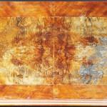 Tischplatte mit Brandschaden