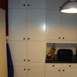 Die neuen Türen aus weiß lackiertem MDF..