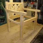 Stuhl in Konstuktion