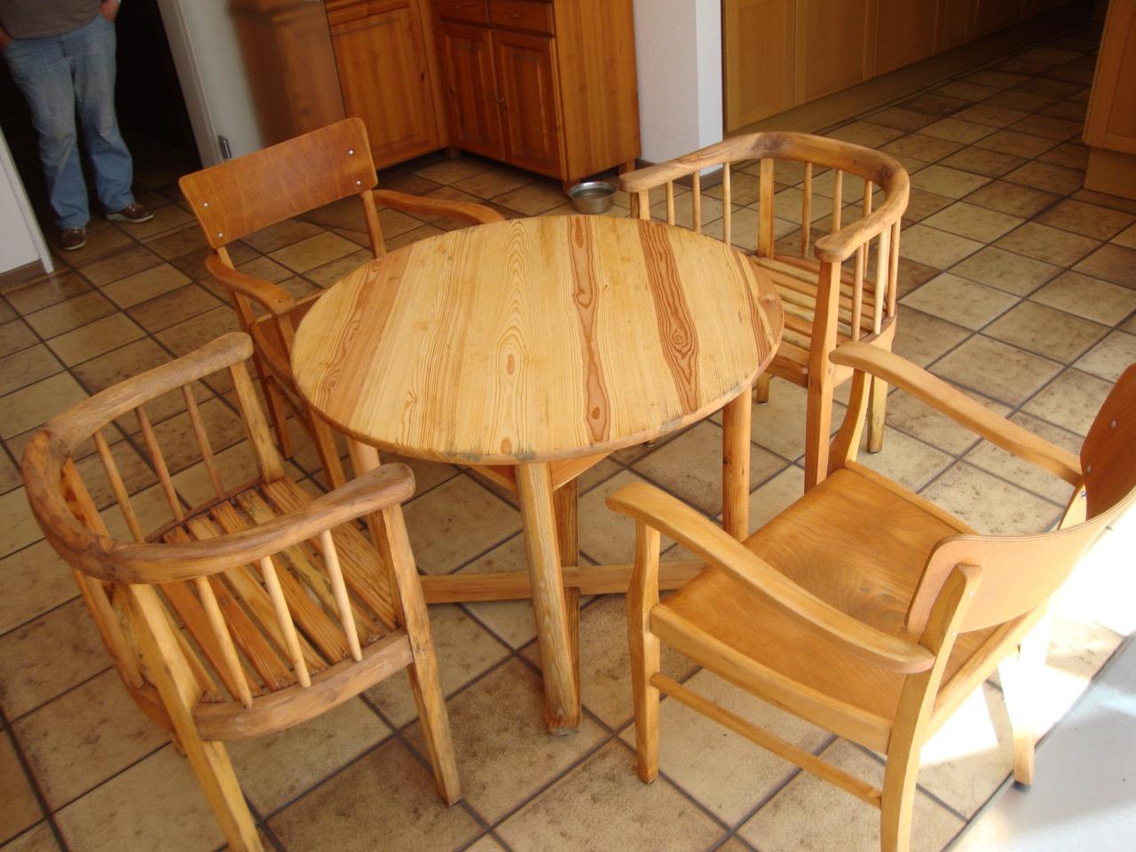 Geölten Tisch Pflegen ~ Vom weiß lackierten Tisch zum geölten Holztisch mit Stühlen  Tischlerei Hamb