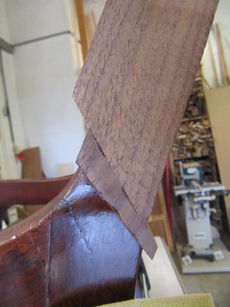 Komplizierter Bruch Stuhl Restaurierung