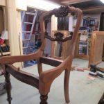 Neu lackieren Holz Stuhl Tischler