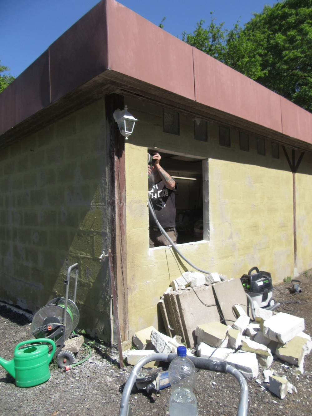 Umbau Holzwerkstatt Helmeke Lagerraum