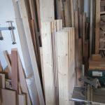 Bestandteile für das neugebaute Hochbett