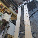 Schlitz-Zapfen-Verbindung für die Treppenstufen