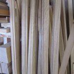 Eichenholz für die Glasleisten der Tür
