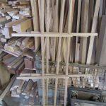 Kreuz für die Glasleisten gebaut