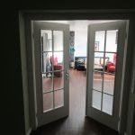 Weiße Zwischentür in buchholz