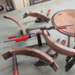 Verleimen antiker Tisch