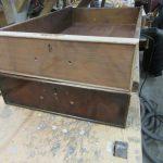 Restaurierung alter englischer Schreibtisch beim Tischler in Harburg