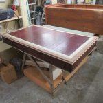 Restaurierung alter englischer Schreibtisch