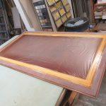 Restaurierung alter englischer Schreibtisch Tischplatte