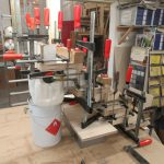 Verleimen der Treppe in der Holzwerkstatt Helmeke 2