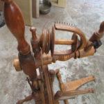 Spinnrad wird restauriert