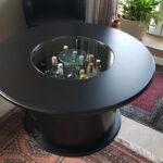 Endergebnis: Tisch neu schwarz lackiert