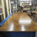 Tischplatte wird originalgetreu angefertigt