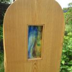 Gartendekoration aus Holz und Glas