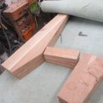 Einzelteile für Neubau der Möbel