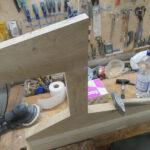 Sitzelemente vom Tischler gebaut