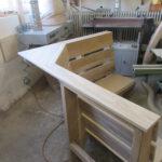 Eckbank in der Holzwerkstatt Helmeke