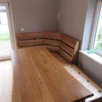 Endergebnis: Neugebauter Tisch und Eckbank/Sitzbank beim Kunden aus dem Landkreis Harburg