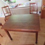 Restaurierter Tisch beim Kunden im Landkreis Harburg