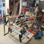 Sesselgestell in der Holzwerkstatt Helmeke im Landkreis Harburg